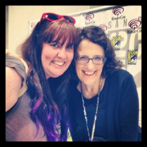 another mission completed... Jane Espenson! one of my favorite writers! April 18, 2014 WonderCon