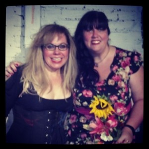 With the wonderful Kirsten Vangsness, Oct 2013, after a performance of her show MESS. <3