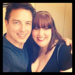 Success! the end of a 5 year mission... a photo with the delightful John Barrowman, April 12, 2014 The Hollywood Show