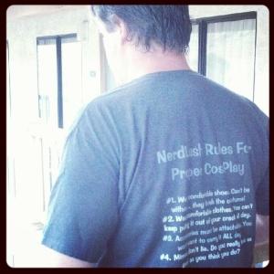 NerdLush CosPlay Rules shirt