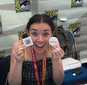 Tara Platt with NerdLush SWAG
