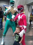 Oz lives out his dream of being a Power Ranger