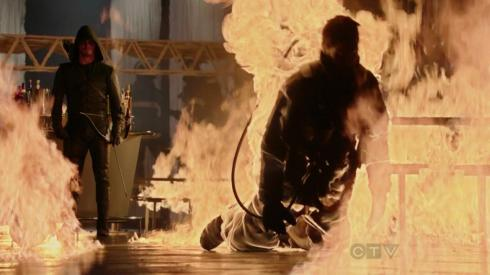 Oliver Queen: he might not save you from being on fire.