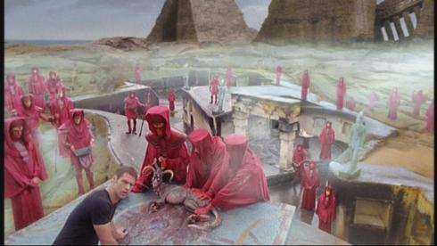 This isn't really from a Farscape episode.  This is apparently Crichton's college fraternity hazing ritual.