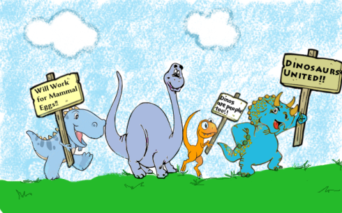 Keep the dinosaurs employed! (art by Dee2)