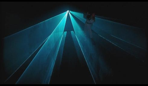 Next time on Farscape: D'Argo tries to escape the Pink Floyd Laser Light Show.