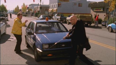 Lex Luthor: waging a one-man war against compact cars.