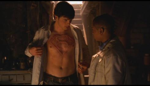 Probably for the best we were spared a scene where Clark puts aloe vera over his chest marking.