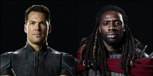 Colossus (left) and Bishop (right) from the upcoming X-Men: Days of Future Past