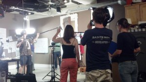 the film making process... from behind
