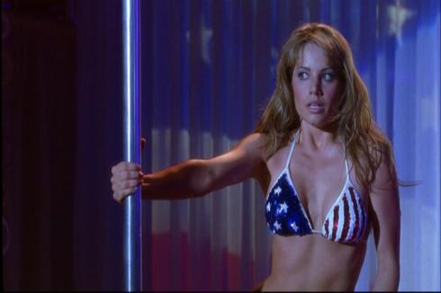 I have a very strange feeling that if we got an 11th season of Smallville, this stars and stripes getup would have been in the Clark/Lois sexy time wear rotation.