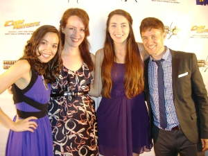 Amelia & Jacqueline representing NerdLush on the Red Carpet with Tara and Yuri!