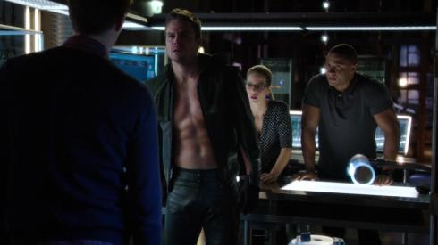 """Felicity, I made it clear no one is to see me shirtless without being vetted by me first!"""