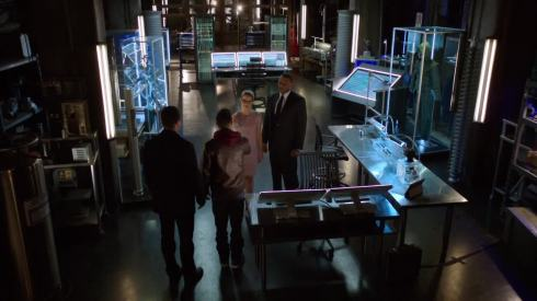 """Felicity: """"Welcome to the Arrow HQ, Roy.  Over here, we have a salmon ladder if you want to do some exercises...if you want to..."""""""