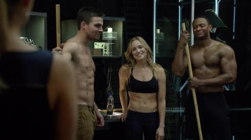 With all those workouts, I'm shocked Felicity doesn't bring in some Febreze now and again.