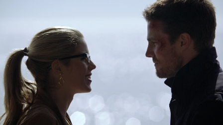 "Ollie: ""Good thing you got the point of all of that back at the mansion, or I was going to have to do other things to sell that to Slade.""  Felicity: ""Like what, exactly?""  Ollie: ""Well...we don't need to talk about it.""  Felicity: (shrugs as he walks away) Yeah.  No need to describe all the sweaty details of that.  Sigh."""
