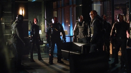 """Slade: """"Dammit, Oliver!  Can't you see we're in the middle of a meeting here?"""""""