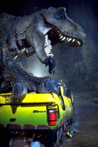 Seriously, you'd take kids to a park full of dinosaurs?  Even I knew that's was a bad idea.