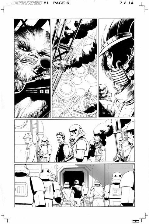 Early John Cassaday artwork for the first Star Wars ongoing series from marvel coming January 2015.