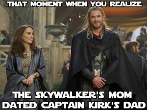 thor is kirk's dad
