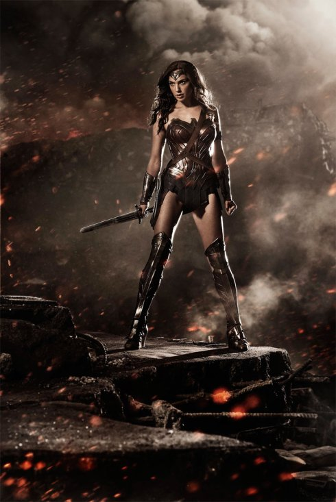 Wonder Woman, now with big honking sword.