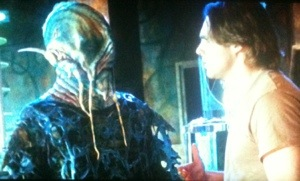 """""""Oh man, I hope I don't have to seduce this alien ala Kirk."""""""